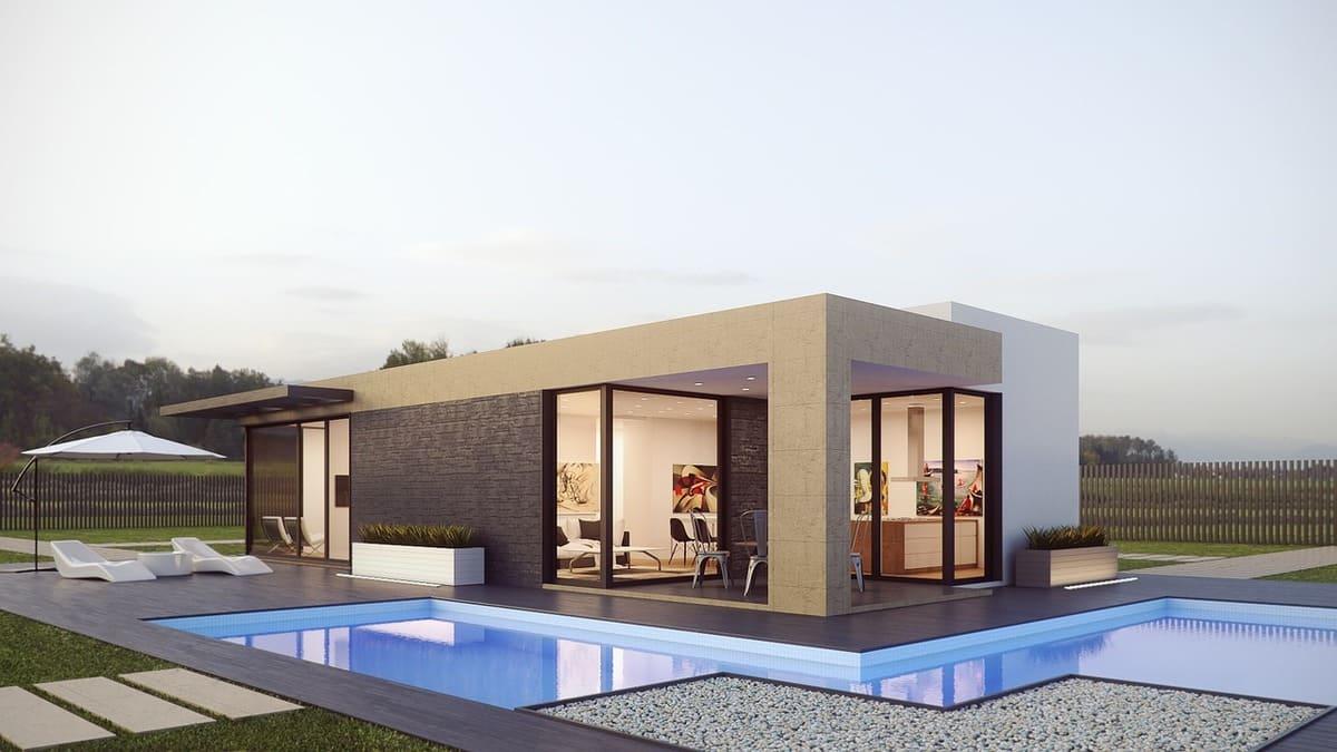 moderní modulární dům